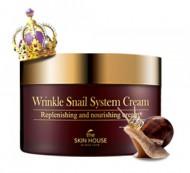 Крем антивозрастной улиточный THE SKIN HOUSE Wrinkle snail system cream 100мл: фото