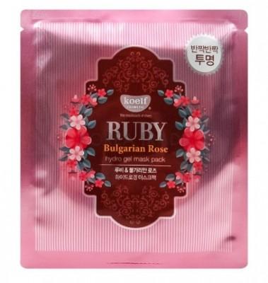 "Маска гидрогелевая ""рубин и масло розы"" KOELF Hydro gel mask pack jewel series ruby & bulgarian rose 30г: фото"