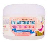 Крем осветляющий с эффектом пилинга ELIZAVECCA Milky Piggy Real Whitening Time Secret Pilling Cream: фото