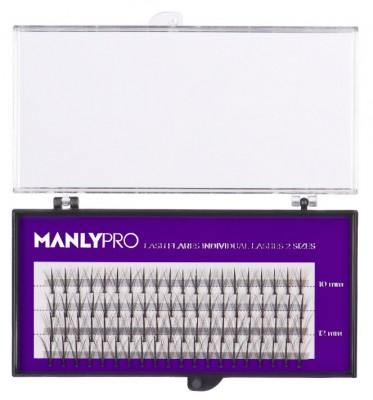 Набор ресниц в пучках MANLY PRO шелк 10, 12 мм РП10: фото
