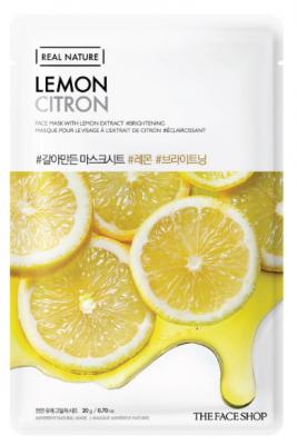 Маска с экстрактом лимона THE FACE SHOP Real nature mask sheet lemon: фото