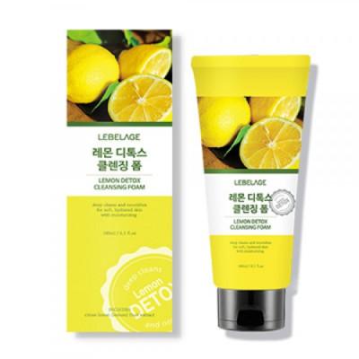 Пенка-Детокс для умывания с лимоном LEBELAGE Lemon Detox Cleansing Foam 180мл: фото