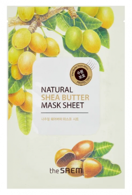 Маска тканевая с экстрактом масла ши THE SAEM Natural Shea Butter Mask Sheet 21мл: фото