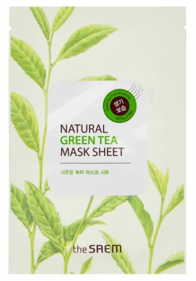 Маска тканевая с экстрактом зеленого чая THE SAEM Natural Green Tea Mask Sheet 21мл: фото