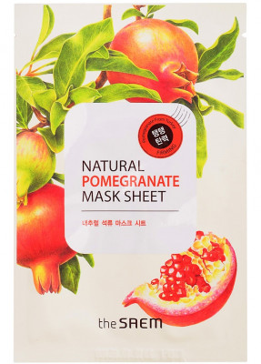 Маска тканевая с экстрактом граната THE SAEM Natural Pomegranate Mask Sheet 21мл: фото
