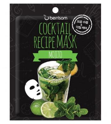 Тканевая маска-коктейль Мохито Berrisom Cocktail Recipe Mask Mojito 20г: фото