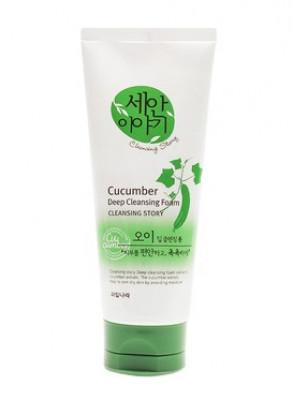 Пенка для умывания с огурцом Welcos Cleansing Story Foam Cleansing Cucumber 120г: фото