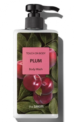 Гель для душа слива THE SAEM TOUCH ON BODY Plum Body Wash 300мл: фото