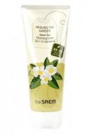 Пенка увлажняющая очищаюшая с экстрактом зеленого чая THE SAEM Healing Tea Garden Green Tea Cleansing Foam 150мл: фото