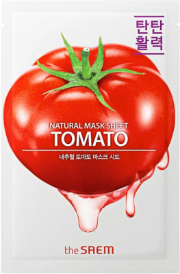 Маска тканевая с экстрактом томата THE SAEM Natural Tomato Mask Sheet 21мл: фото