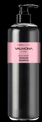 Шампунь для волос ЧЕРНЫЙ ПИОН и БОБЫ EVAS VALMONA Powerful Solution Black Peony Seoritae Shampoo 480 мл: фото