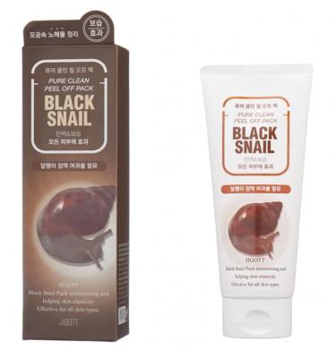 Маска-плёнка очищающая с муцином черной улитки JIGOTT Black Snail Pure Clean Peel Off Pack: фото