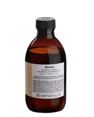 Шампунь АЛХИМИК для натуральных и окрашенных волос золото Davines ALCHEMIC SHAMPOO for natural and coloured hair 280мл: фото
