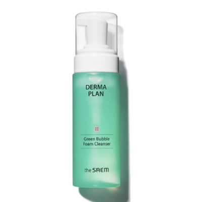 Пенка для умывания THE SAEM Derma Plan Green Bubble Foam Cleanser 150мл: фото