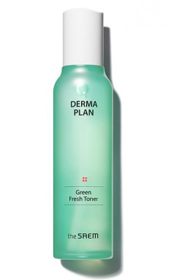 Тонер для лица освежающий THE SAEM Derma Plan Green Fresh Toner 155мл: фото