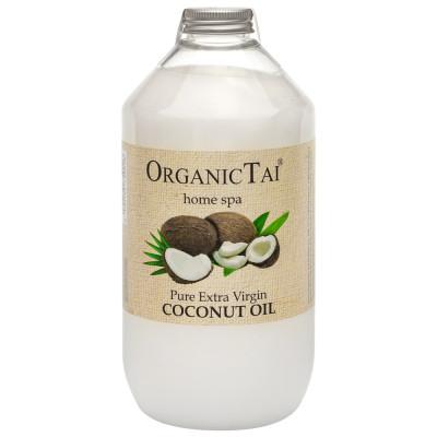 Чистое кокосовое масло холодного отжима для тела и волос OrganicTai, 1000 мл: фото
