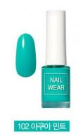 Лак для ногтей THE SAEM Nail wear 102. Aqua Mint: фото