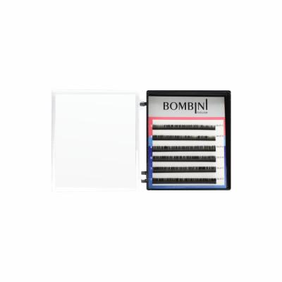 Ресницы Bombini Черные, 6 линий, изгиб С - mini-MIX 5-7 0.07: фото
