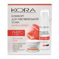 Подарочный набор KORA Cica-Sensetive Комфорт для чувствительной кожи: Крем - сыворотка успокаивающая 30 мл + Крем-комфорт успокаивающий 15 мл: фото