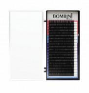 Ресницы Bombini Черные, 20 линий, изгиб D – MIX 9-12 0.15: фото