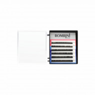 Ресницы Bombini Черные, 6 линий, изгиб D - mini-MIX 5-7 0.10: фото