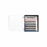 Ресницы Bombini Черные, 6 линий, изгиб D+ - mini-MIX 5-7 0.10: фото