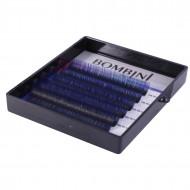 Ресницы Bombini Holi Черно-синие, 6 линий, изгиб D MIX 8-13 0.07: фото