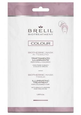 Экспресс-маска для окрашенных волос BRELIL BIOTTREATMENT COLOUR ILLUMINATING TERTAMENT 35мл: фото