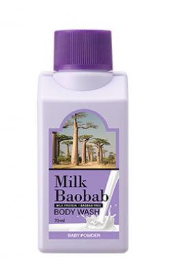 Гель для душа с ароматом детской присыпки Milk Baobab Body Wash Baby Powder Travel Edition 70мл: фото
