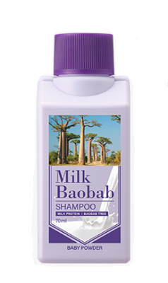 Шампунь для волос с ароматом детской присыпки Milk Baobab Original Shampoo Baby Powder Travel Edition 70мл: фото