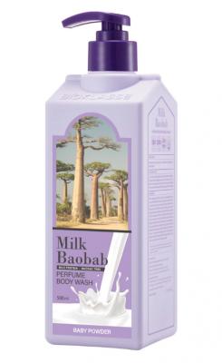 Гель для душа с ароматом детской присыпки Milk Baobab Perfume Body Wash Baby Powder 500 мл: фото