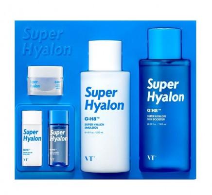 Набор увлажняющих средств с 8 типами гиалуроновой кислоты VT SUPER HYALON SKIN CARE SET: фото