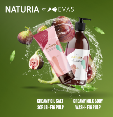 Гель для душа ИНЖИР EVAS NATURIA Creamy Milk Body Wash Fig Pulp 750 мл: фото