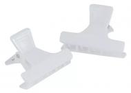 Зажимы для волос пластиковые Sibel 5,5см белые 12шт: фото