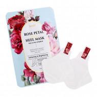 [KOELF] НАБОР Маски-носочки для ног/ ПЯТКИ/ РОЗА Rose Petal Satin Heel Mask, 5 шт*6 гр: фото