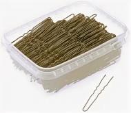 Шпильки волнистые Sibel 70мм коричневые 500г: фото
