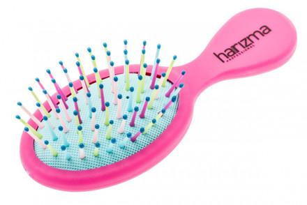 Щетка для волос малая Harizma Professional Rainbow пурпурная: фото
