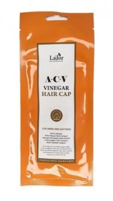 Маска-шапочка для волос с яблочным уксусом La'dor ACV VINEGAR HAIR CAP 30г: фото