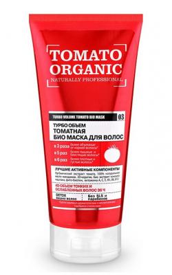 """Био-маска для волос томатная Organic Shop """"Турбо объем"""" 200мл: фото"""