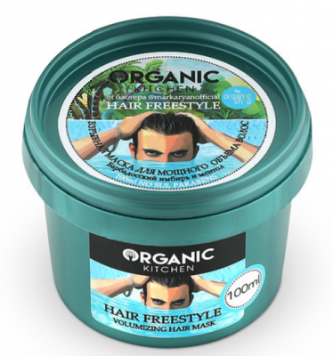 Маска для мощного объема волос от блогера @markaryanofficial Organic Kitchen