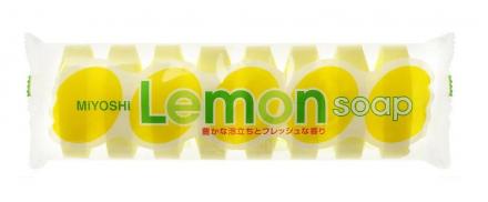 Мыло туалетное для всей семьи с ароматом лимона Miyoshi Lemom soap for bath 45г*8шт: фото
