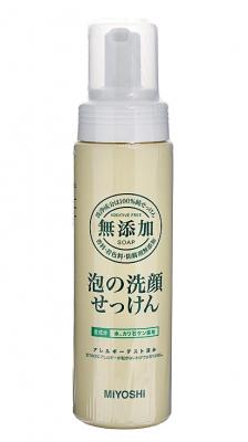 Средство для умывания пенящееся MIYOSHI Additive free bubble face wash 200мл: фото