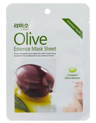 Маска с экстрактом оливы La Miso Olive essence mask sheet 21г: фото