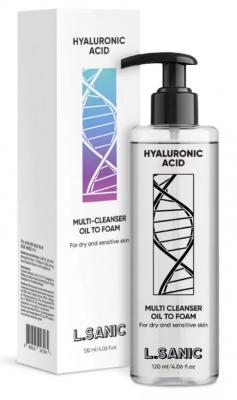 Масло-пенка с гиалуроновой кислотой L.Sanic Hyaluronic acid oil to foam cleans 120мл: фото
