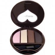 Тени для век 4-х цветные Koji Dolly wink eye shadow тон №02 розовый и коричневый: фото