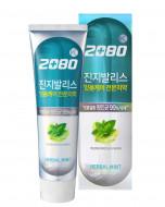 Зубная паста с гинкго билоба Мята и целебные травы KeraSys Dental clinic 2080 herbal mint 100г: фото