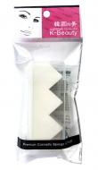 Спонж косметический в кейсе 3 сегмента K-Beauty Premium Cosmetic Sponge NR-15: фото