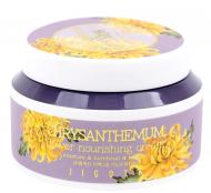 Крем питательный с экстрактом хризантемы Jigott Chrysanthemum flower nourishing cream 100мл: фото
