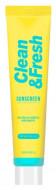 Крем освежающий солнцезащитный Eunyul Clean&fresh sunscreen SPF50+ PA++++ 50г: фото